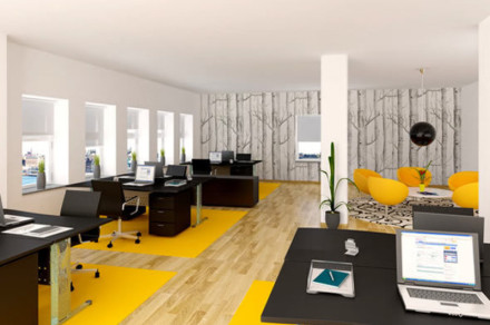 Clean and Bright Line Modern Office Interior Design